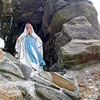 This is an image of Allerton's St. Lucy's Grotto