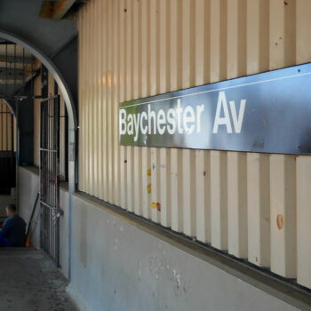 This is an image of a Baychester Avenue Subway Station Sign