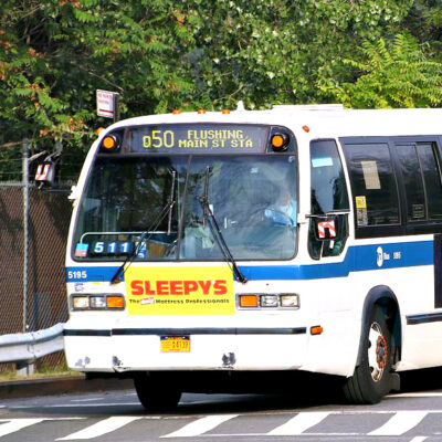 This is an image of a Q50 Flushing City Bus