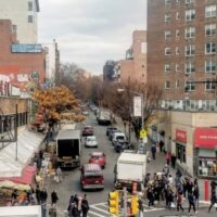 This is an image of Flushing Streetscape at Main Street and 41st Avenue