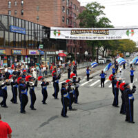 This is an image of Morris Park's Columbus Day Parade Marching Bands