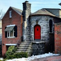This is an image of a Morris Park Brick and Stone House