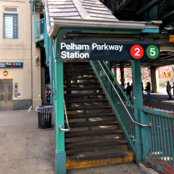 This is an image of the Pelham Parkway Subway Station Entrance