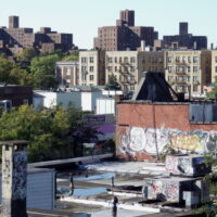 This is an image of Parchester Rooftops With Graffiti