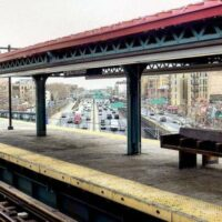 This is an image of Parkchester Subway Station With View of Cross Bronx Expressway