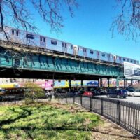 This is an image of Parkchester Elevated Train Trestle