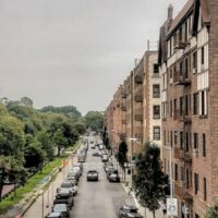 This is an image of Pelham Parkway Apartment Buildings