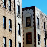 This is an image of a Pelham Parkway Apartment Building Brickwork and Ornamentation