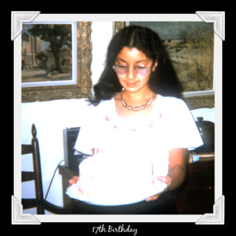 This is an image of Ruth 17th Birthday in 1974