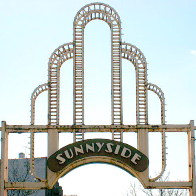 This is an image of the metal Art Deco Sunnyside Sign