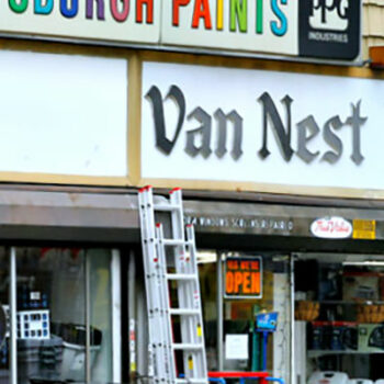 This is an image of a Van Nest Hardware Sign