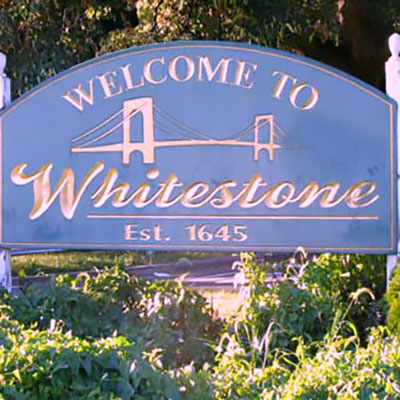 This is an image of Welcome to Whitstone Sign