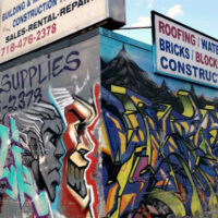 This is an image of East Elmhurst Building Supplies Mural