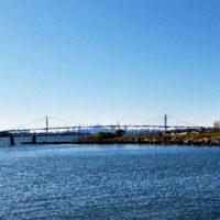 Bronx Whitesone Bridge Seen From Locust Point in Throggs Neck