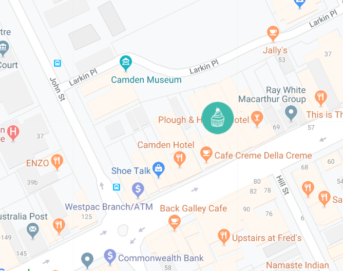 Google Map of Sweet Treats by Rhi