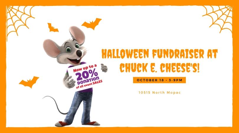 Halloween Fundraiser at Chuck E. Cheese's!