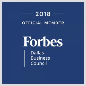 Nolan Clemmons Forbes Dallas Business Council Blue Logo DFW Texas Marketing Entrepreneur