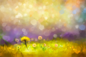 Dandelion flower amid colorful backdrop on Couples Counseling page