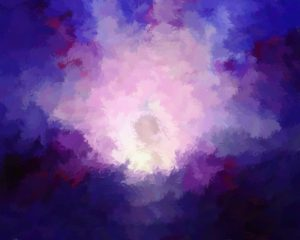 Impressionist artwork of shades of purple