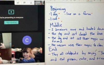 Kindergarten Students Build Creative Writing Skills