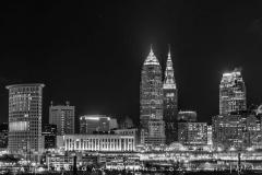 Cleveland_Skyline_Black_White