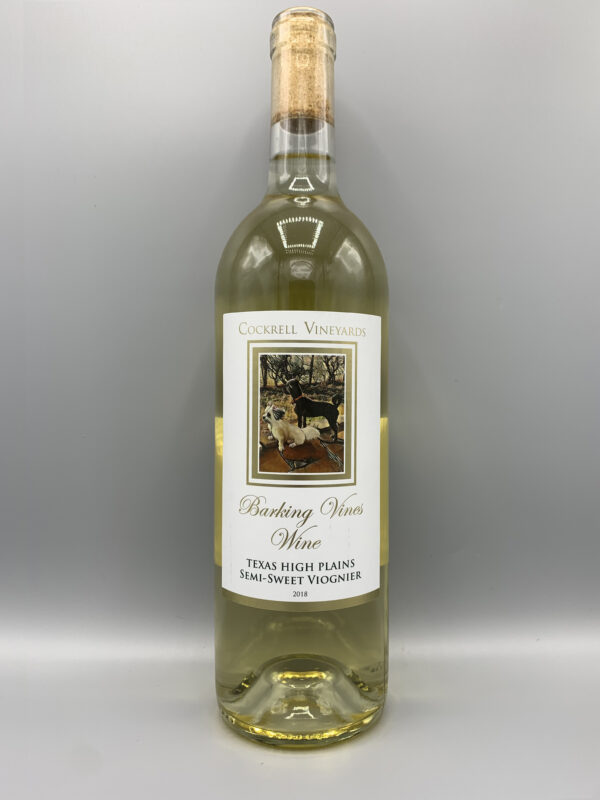 Cockrell Vineyards Wines Semi-Sweet Viognier