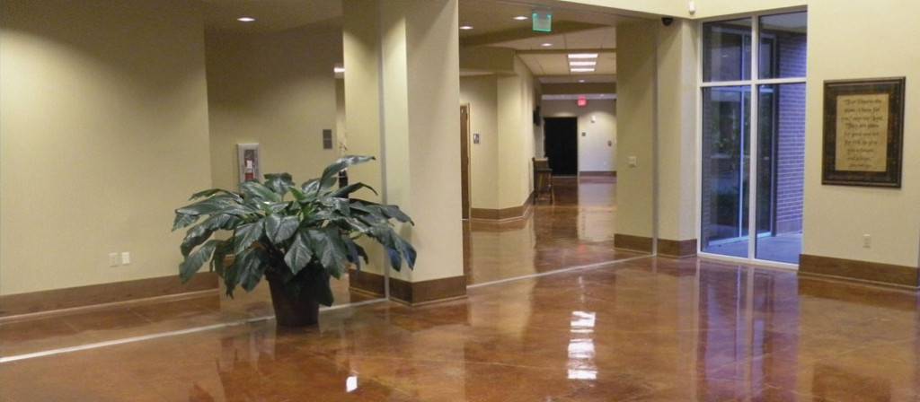 Stained Concrete Lobby