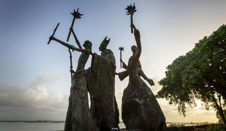Old San Juan statues