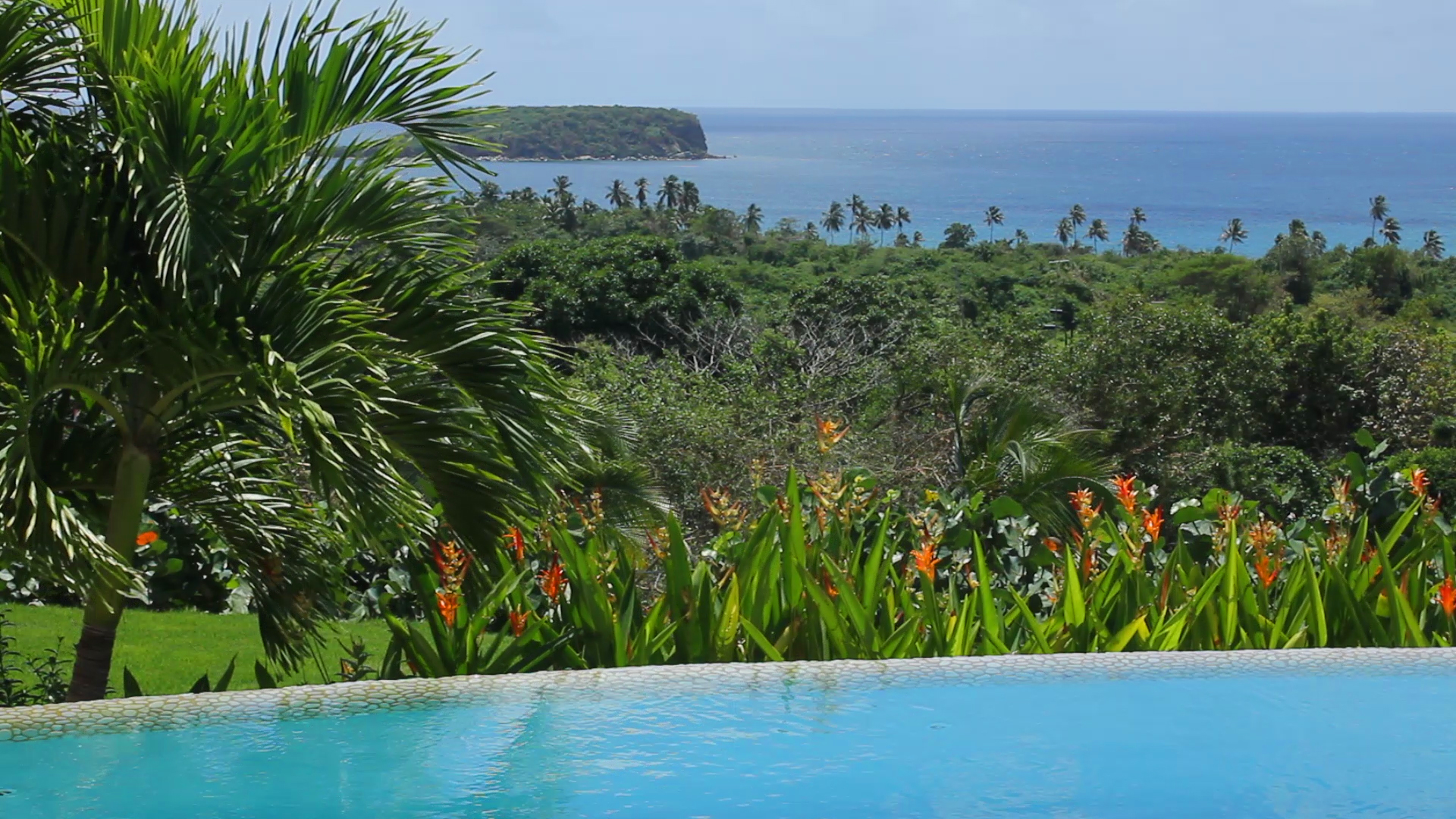 View of the Caribbean from Los Arcos