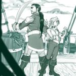Captain Fal'kjun & Elizabeth by Noxbatty