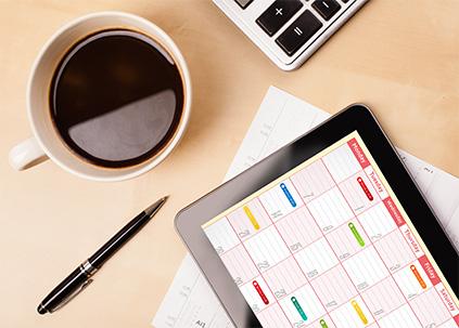 Desk and iPad