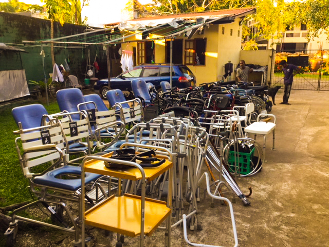 Donation of Wheel Chairs