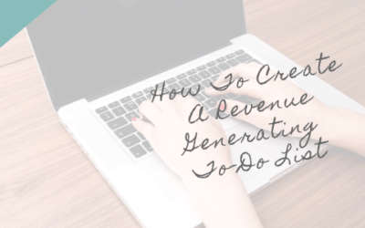 Revenue Generating To Do List