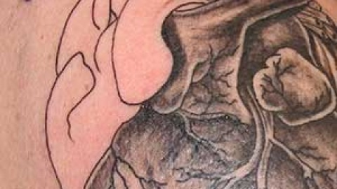 Photo Tutorial: black and gray heart tattoo tutorial