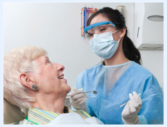 patient smiling to dentist