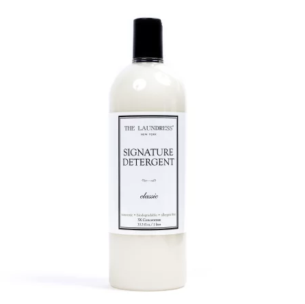 """For all-purpose laundering, Signature Detergent is perfectly formulated to whiten, brighten, and preserve color while removing stains. Our start-to-finish laundering collection is scented in Classic, the ultimate """"clean laundry smell."""" Highly concentrated."""