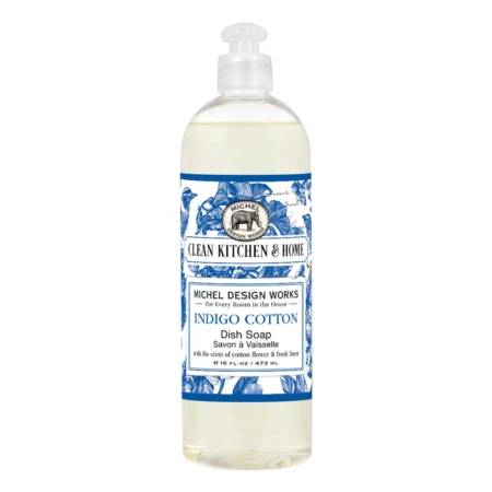 Michel Design Works Indigo Cotton Dish Soap