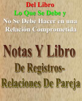 Notas Y Libro De Registros-Relaciones De Pareja