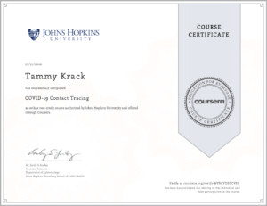 COVID-19 Contact Tracing Certificate