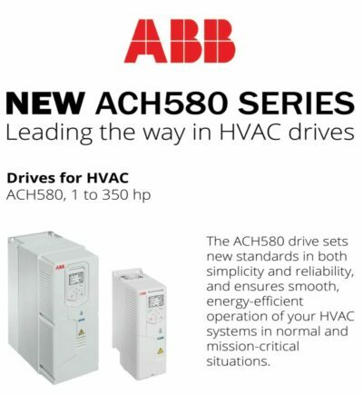 ABB introduced ACH580 series of variable frequency drives