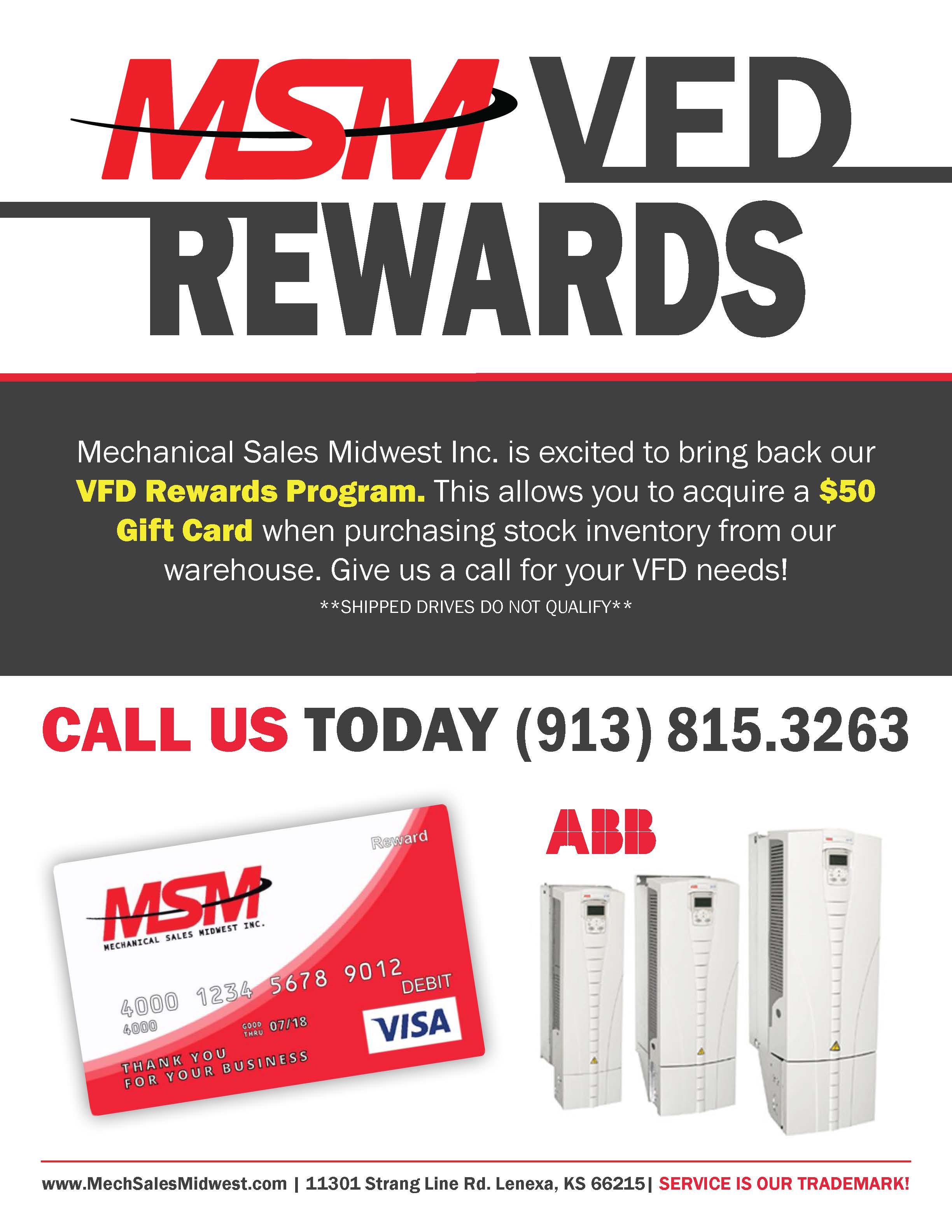 Need a VFD FAST? | Take Advantage of our VFD Rewards Program