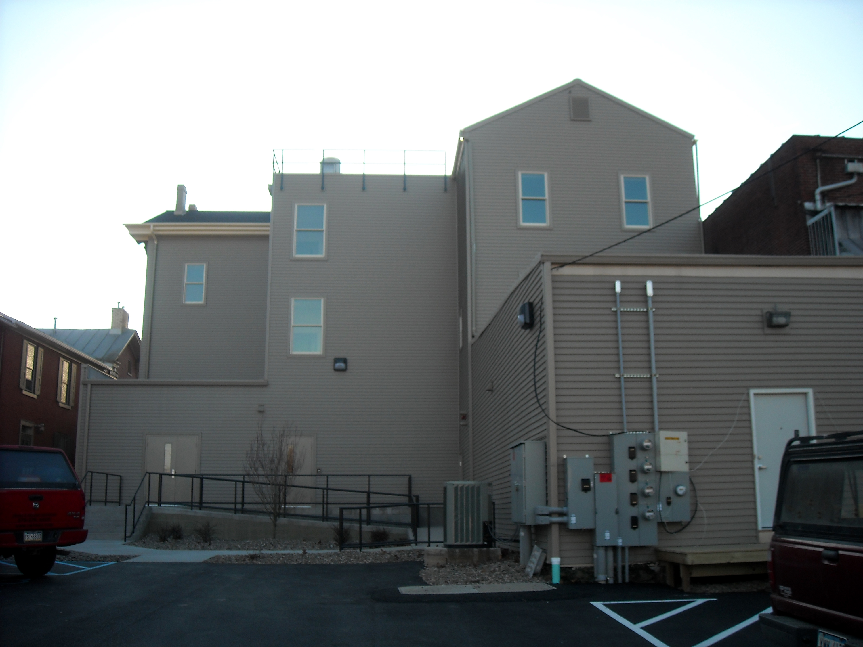 The back of the DeWitt Building at Bucknell University after renovations.
