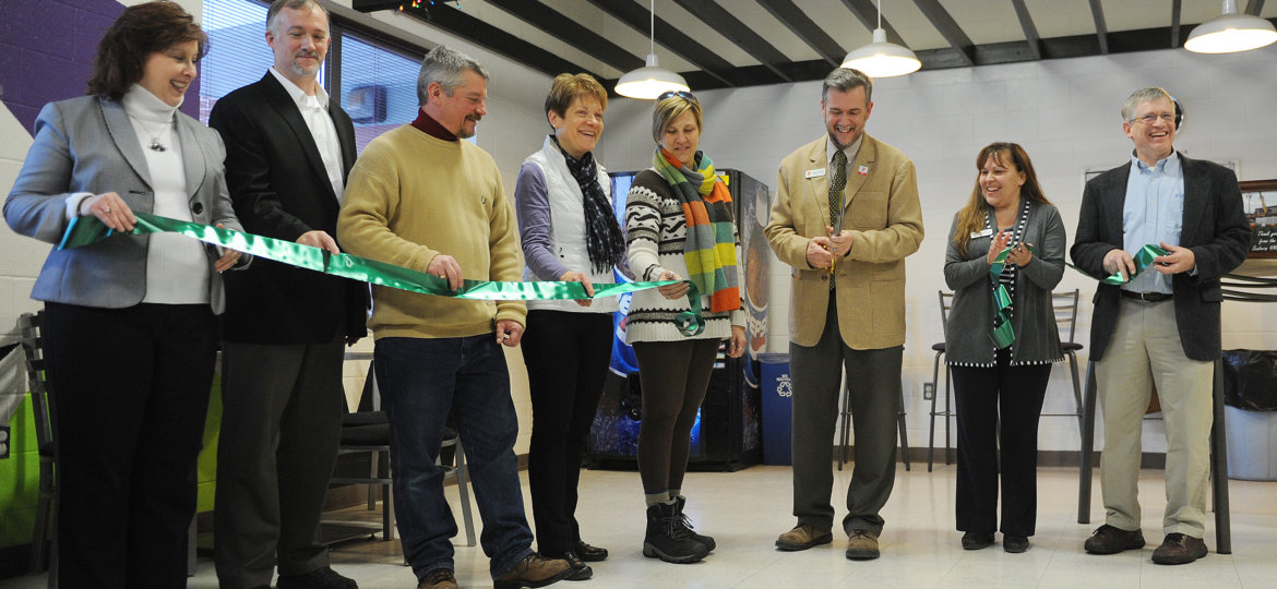 The ribbon is cut at the Greater Susquehanna Valley YMCA for the new locker rooms at the Sunbury branch.
