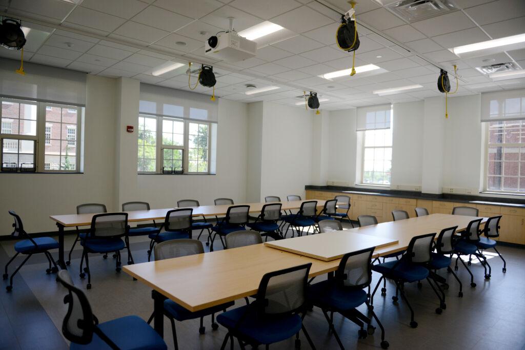 A classroom inside Academic East.