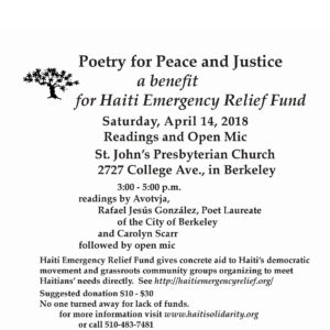 Poetry for Peace & Justice