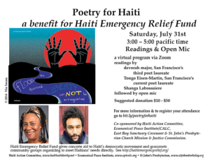 Date Change: Poetry for Haiti Benefit