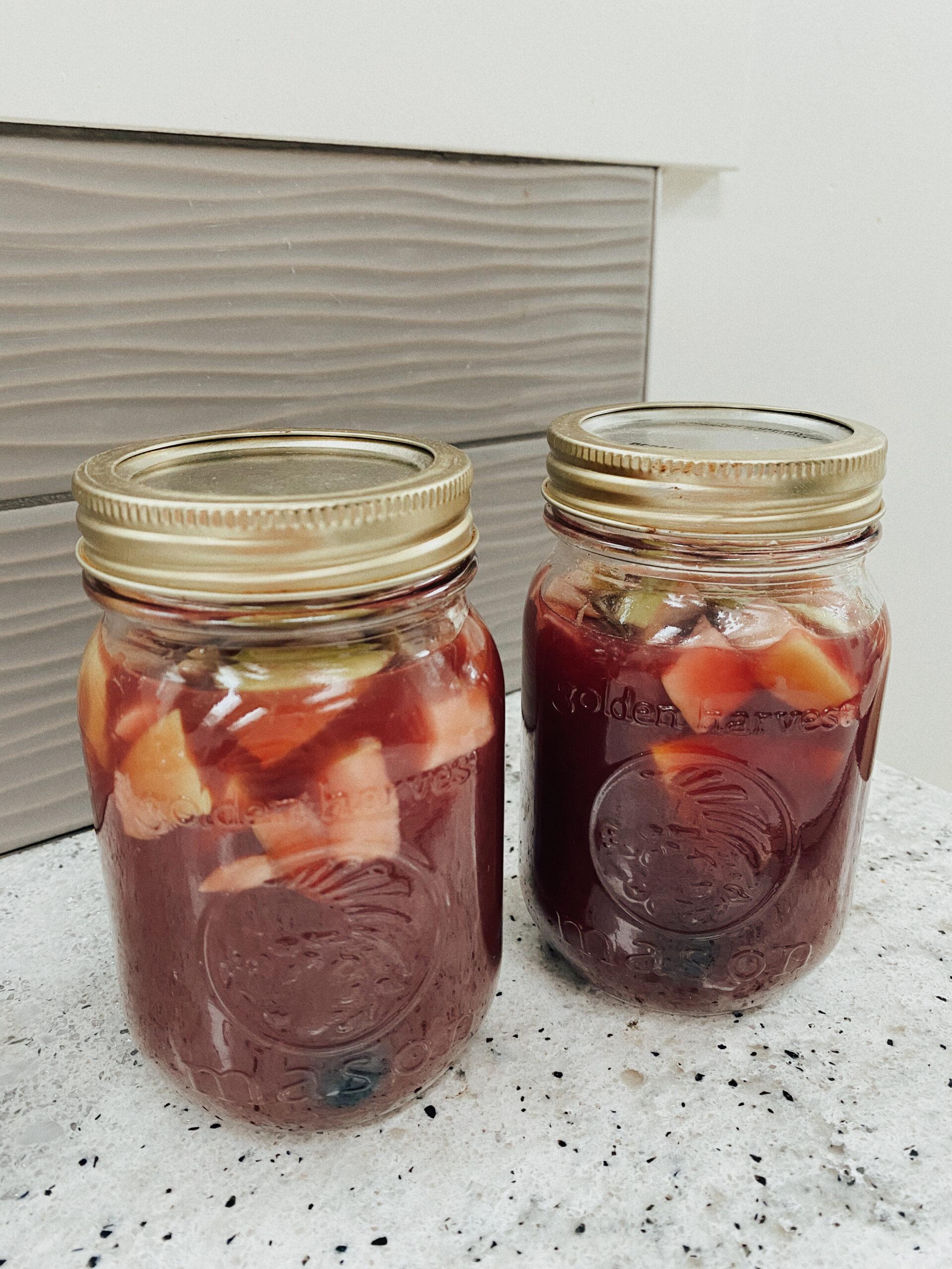 camping mason jar sangria