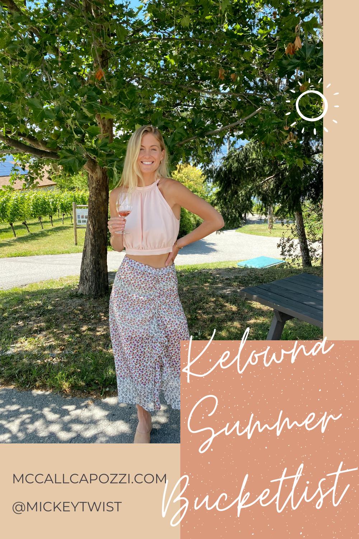 Kelowna Summer Bucketlist Pin