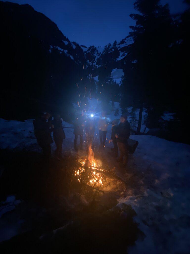 fire where we set up camp