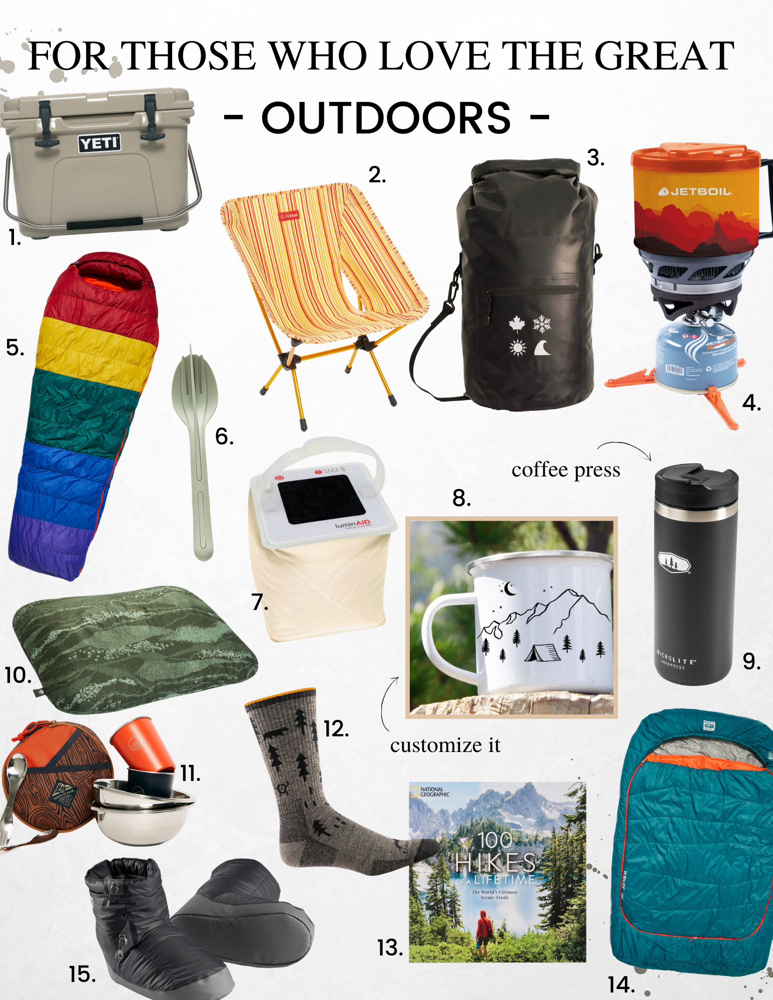gift guider for the outdoor adventurer